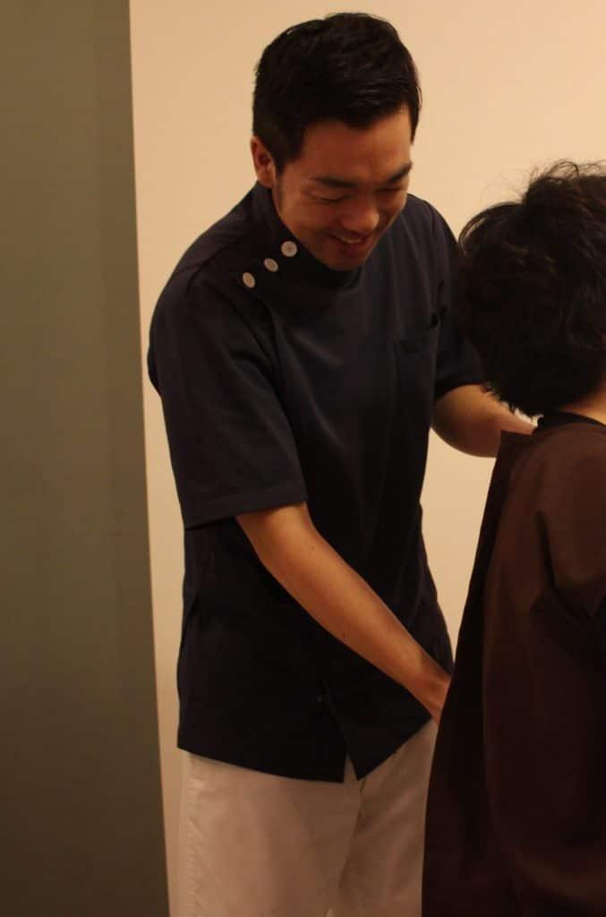 腰椎の触診