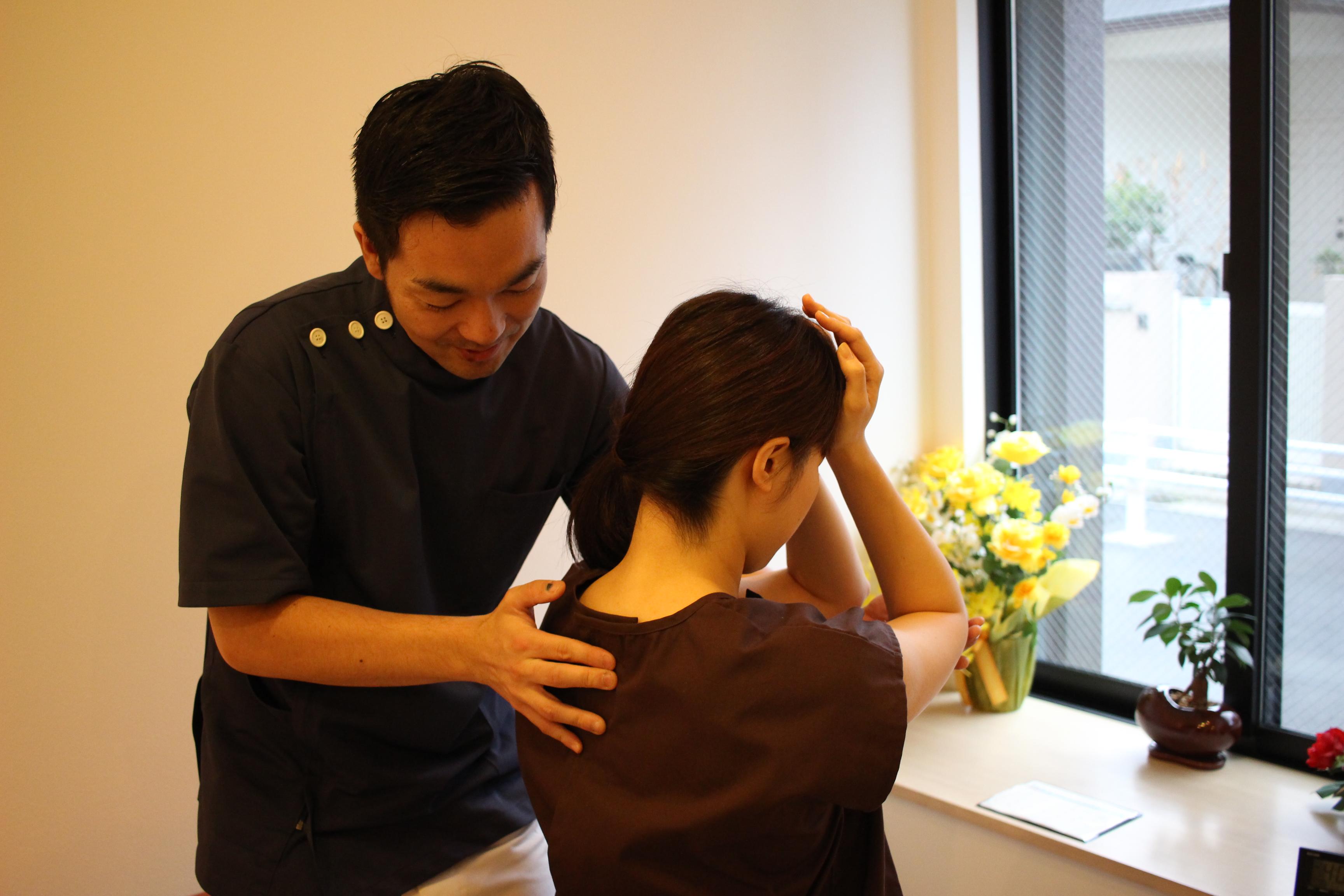 背骨の触診