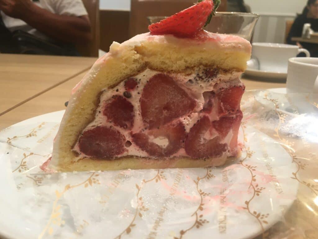 ケーキで層構造を表した図