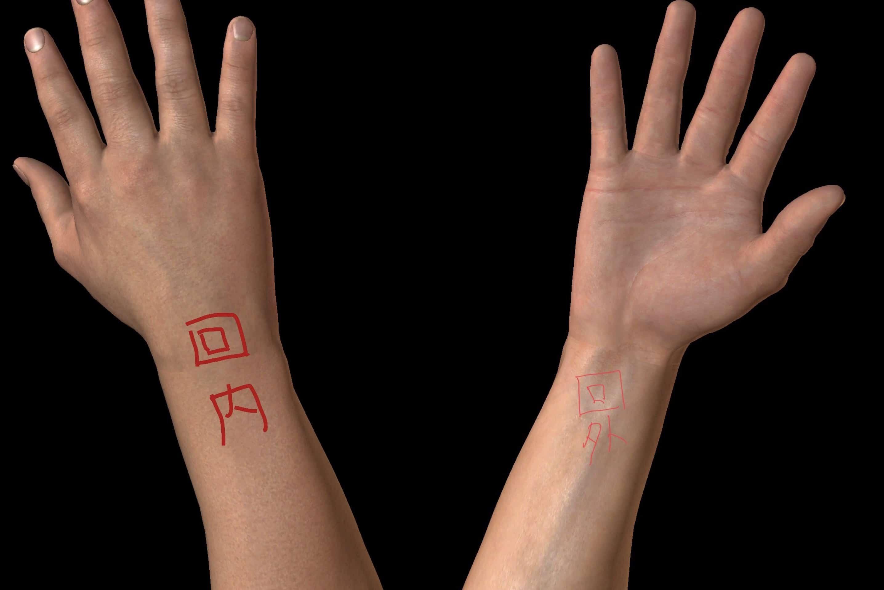 手首の回内・回外の図